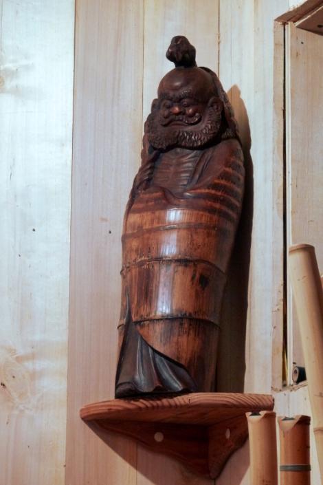 sculpture bambou bodhidharma